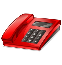 A red telephone vector image