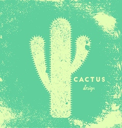 Cactus with needles vector image