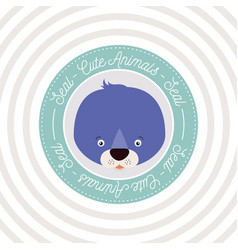 Circular background with color frame decorative vector