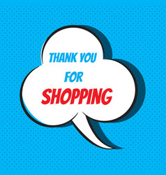comic speech bubble with phrase thank you for vector image