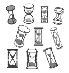 hourglass isolated icons set vector image vector image