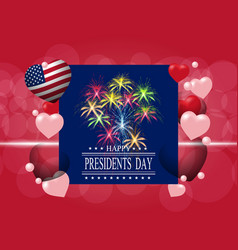 presidents day greeting card or invitation the vector image