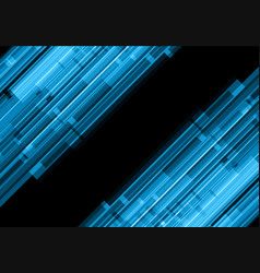 abstract blue line effect technology vector image