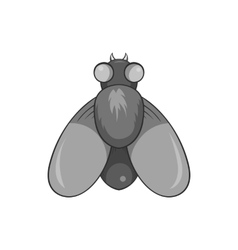 Fly icon black monochrome style vector image
