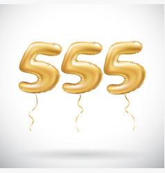 Golden number 555 five hundred fifty five vector
