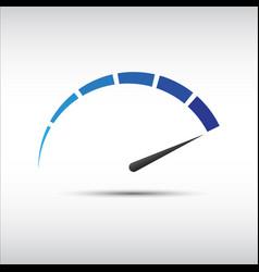 blue tachometer speedometer icon performance vector image
