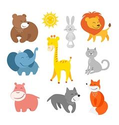 Cartoon animals zoo vector image vector image