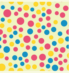 colored circle seamless pattern shape art vector image vector image