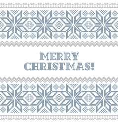 Knited christmas background vector