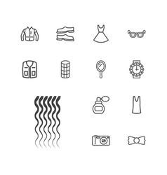 13 fashion icons vector
