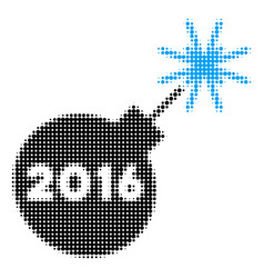 2016 petard halftone icon vector image