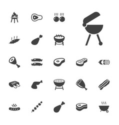 22 barbecue icons vector