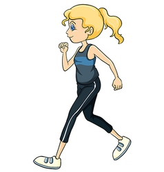 A running girl vector