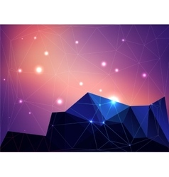 Abstract polygonal colorful background with stars vector image