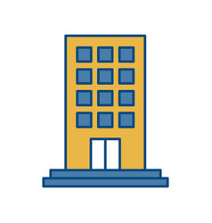 Apartments building icon vector