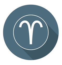 Aries icon astrological horoscope sign zodiac vector