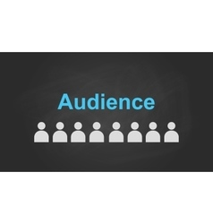 audience text concept with user icon symbol vector image