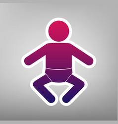 baby sign purple gradient vector image