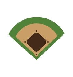 baseball field diamond form icon graphic vector image