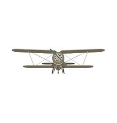 biplane vintage airplane plane old retro vector image