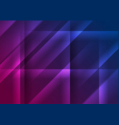 blue purple glowing smooth stripes abstract vector image