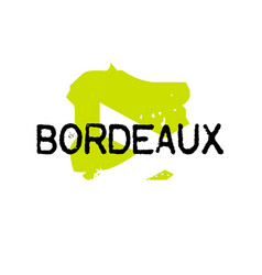 Bordeaux sticker stamp vector