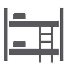 bunk bed glyph icon furniture and home bed sign vector image
