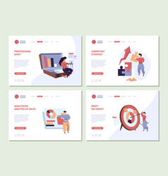 business characters landing people planning vector image