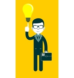 Businessman as a symbol of having an idea vector image