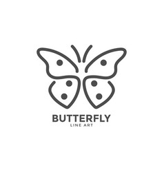 butterfly graphic design template vector image