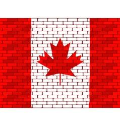 canadian brick wall vector image