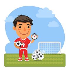 cartoon soccer coach vector image