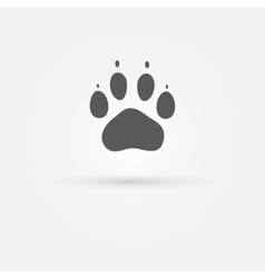Cat paw - footprint icon vector