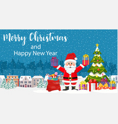 christmas card with greeting vector image