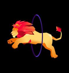 Circus trained wild animals performance gradient vector