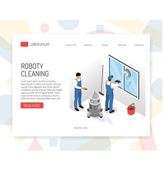 Cleaning service isometric design vector