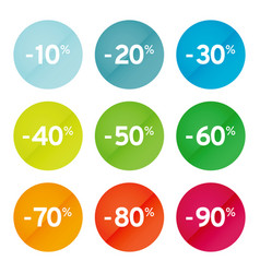 colored discount sticker vector image