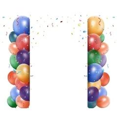 Colorful birthday balloon vector