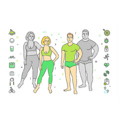 concept healthy lifestyle vector image