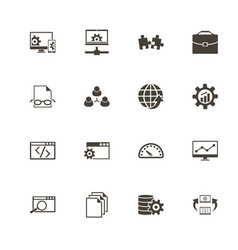 development - flat icons vector image