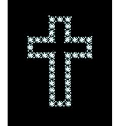 Diamond Christian Cross vector