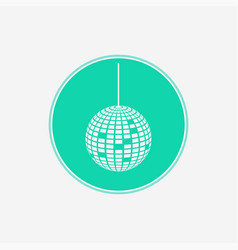 Disco ball icon sign symbol vector