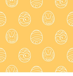 Easter seamless background Decorated eggs on a vector image