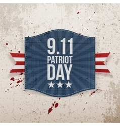 Eleventh September Patriot Day national Tag vector image