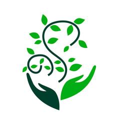Environmental sustainability logo vector