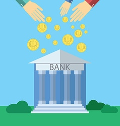 Flat design modern concept for Bank with human vector image
