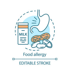 food allergy concept icon allergic reaction to vector image