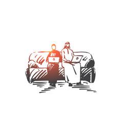 freelance internet leisure concept sketch hand vector image
