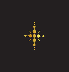 golden cross christian symbol jesus abstract vector image