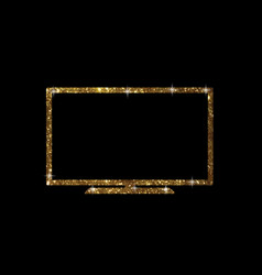 golden glitter of isolated oled black flat smart vector image